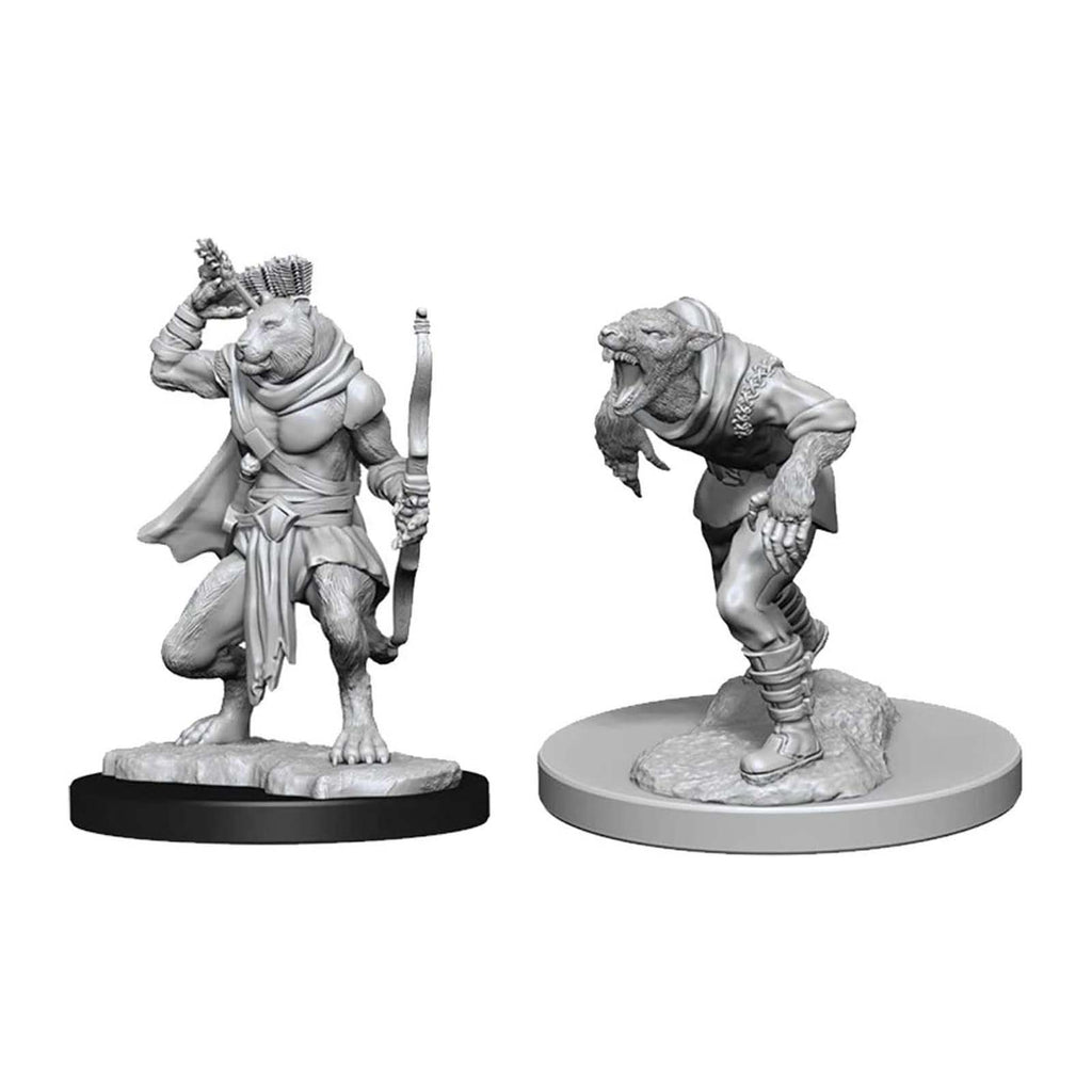 Action Figures - Dungeons And Dragons Wererat & Were Tiger Nolzur's Miniatures