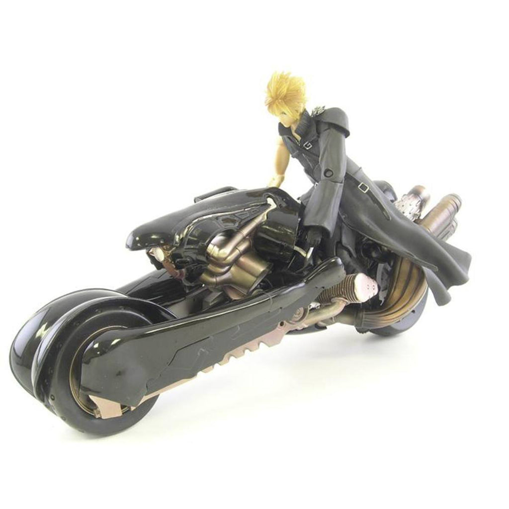 Final Fantasy Advent Children Cloud Strife And Fenrir Motorcycle Action Figure - Radar Toys