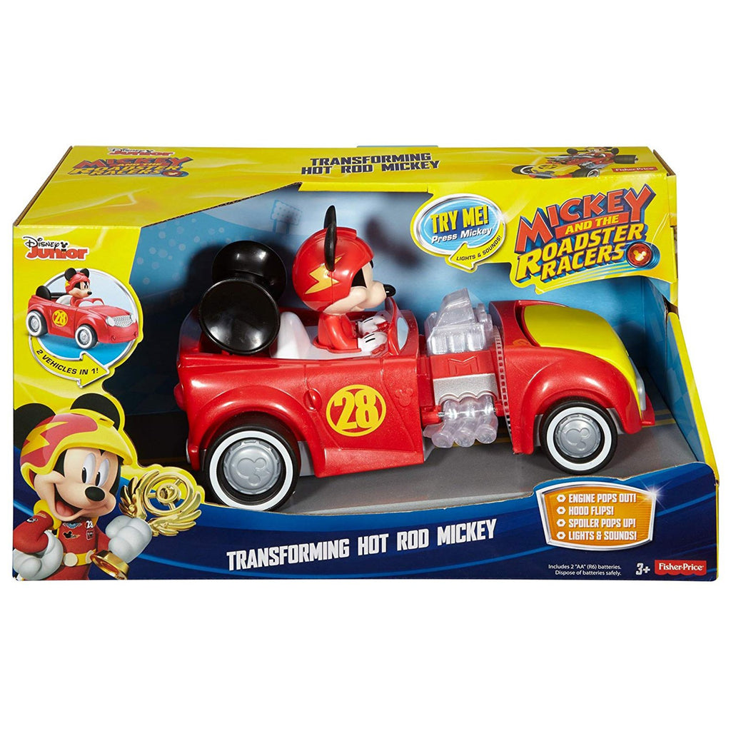 Fisher Price Disney Junior Mickey Mouse Transforming Hot Rod