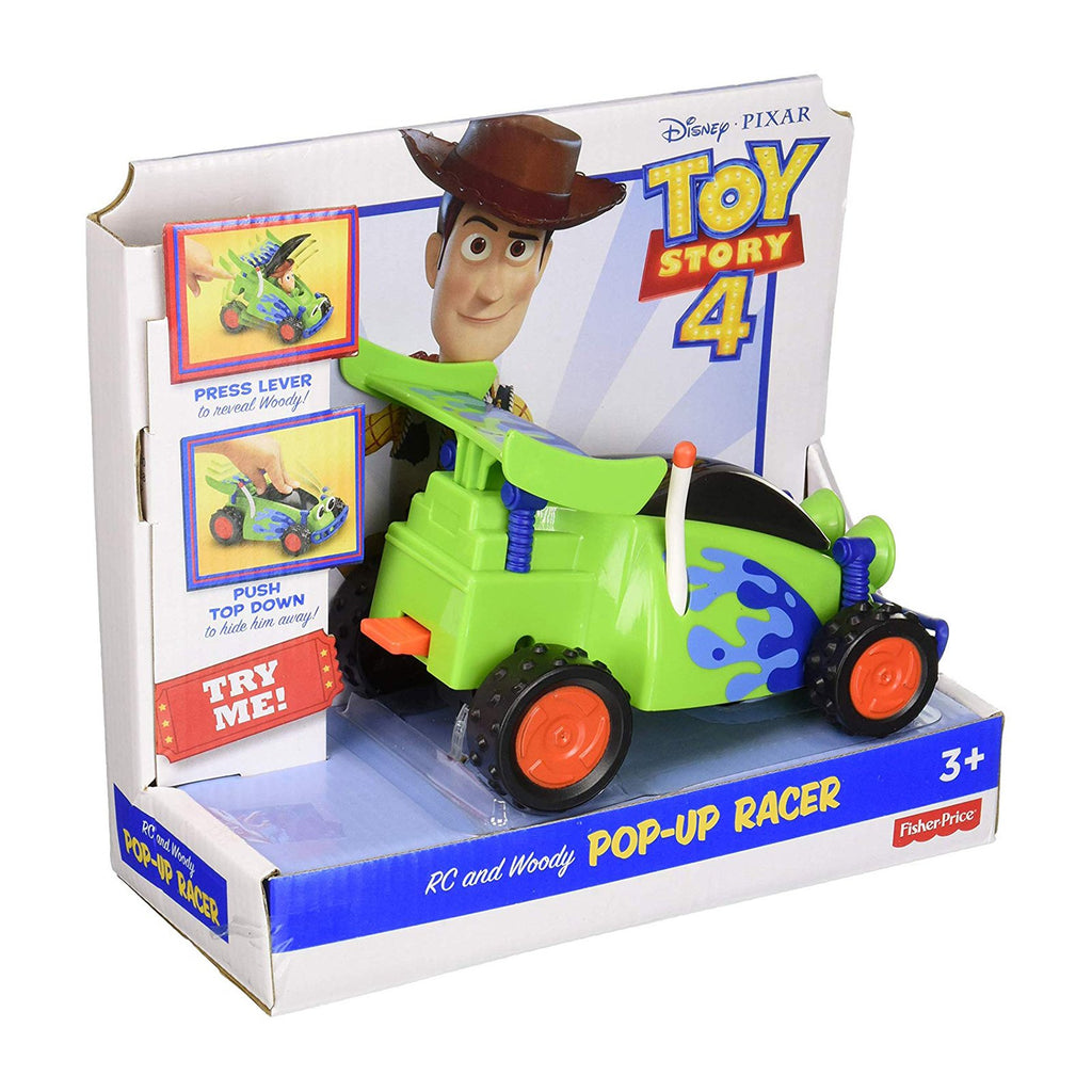 Fisher Price Disney Toy Story 4 Woody Pop Up Racer