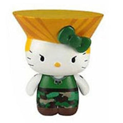 Hello Kitty Street Fighter Guile Mobile Plug Charm Figure - Radar Toys