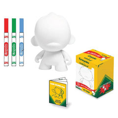 Kidrobot Crayola Do It Yourself Foomi 4 Inch Blank Vinyl Figure - Radar Toys