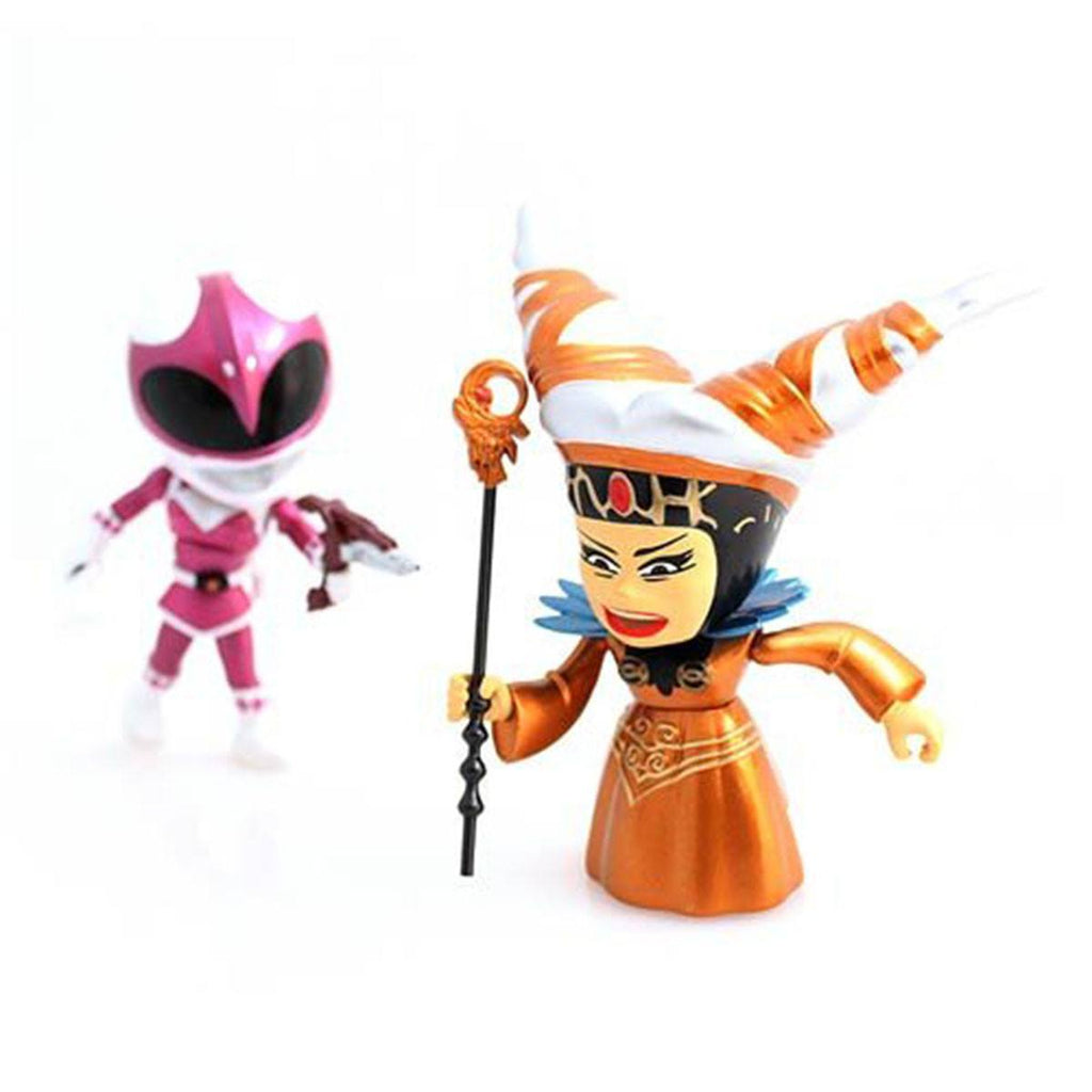 Loyal Subjects Power Rangers Exclusive Metallic Pink Ranger Versus Rita Figures