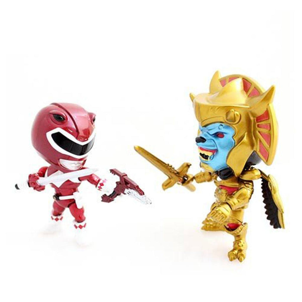 Loyal Subjects Power Rangers Exclusive Metallic Red Ranger Versus Goldar Figures - Radar Toys