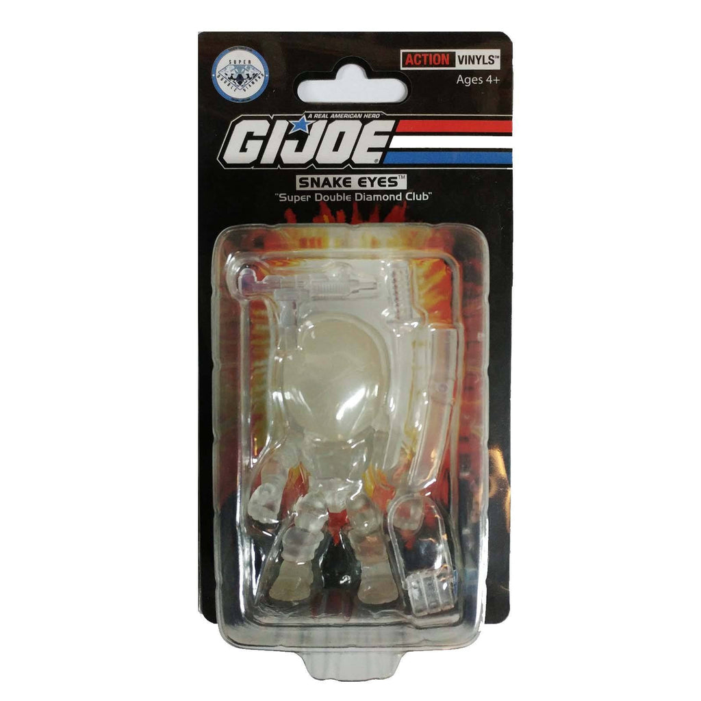 Loyal Subjects SDDC G.I. Joe Snake Eyes Clear White Action Figure