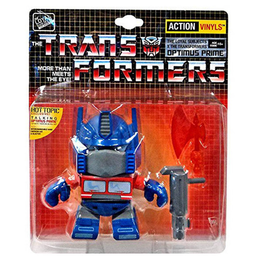 Loyal Subjects Transformers Exclusive Talking Optimus Prime Vinyl Figure