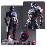 Action Figures - Marvel Universe Captain America Variant Play Arts Kai Action Figure