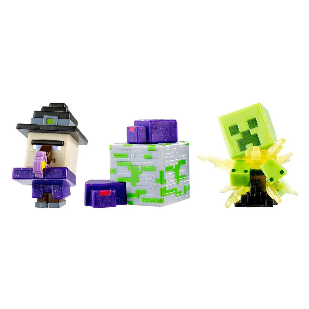 Minecraft 6 End Stone Witch Creeper Endermites Mini Figures 3 Pack