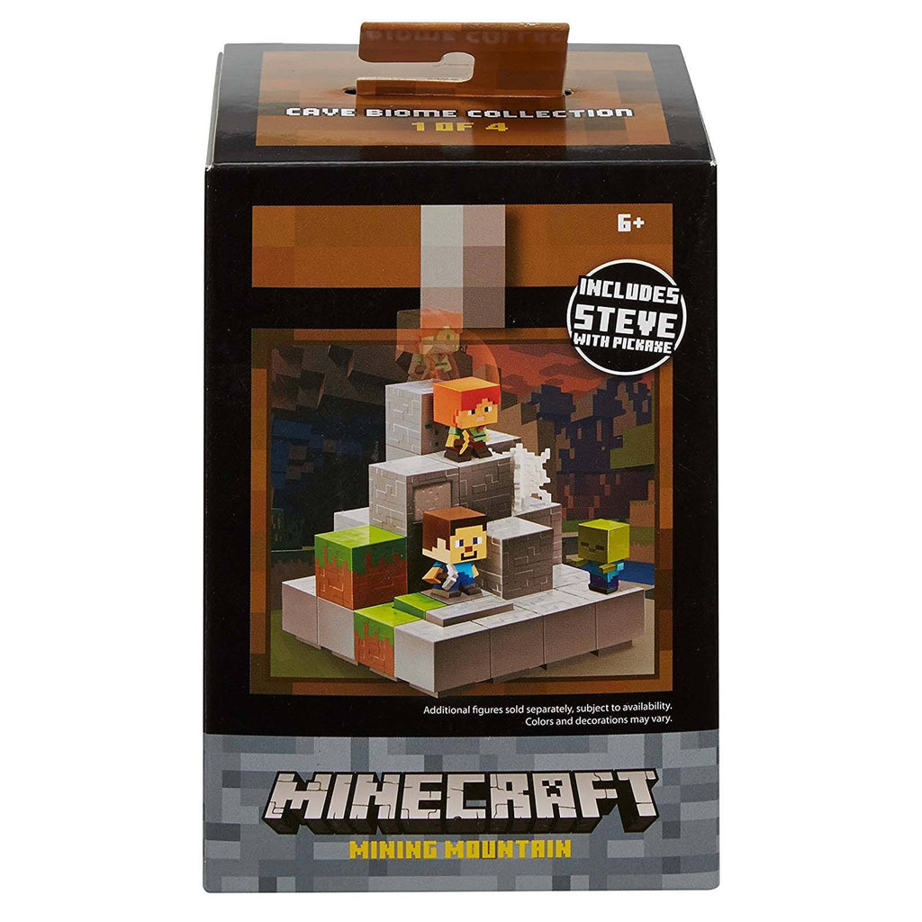 Minecraft Cave Boime Collection Mining Mountain Mini Figure Set