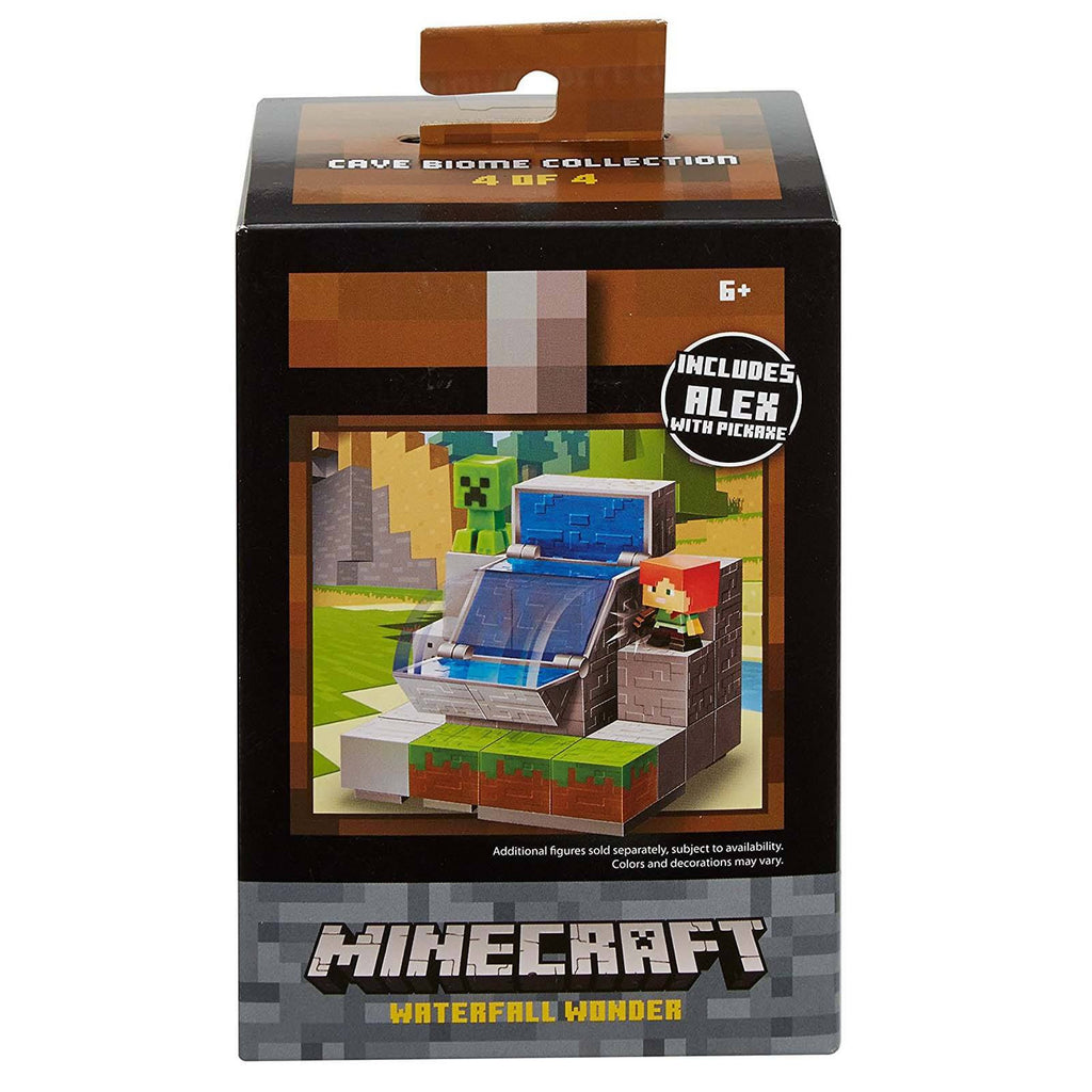 Minecraft Cave Boime Collection Waterfall Wonder Mini Figure Set