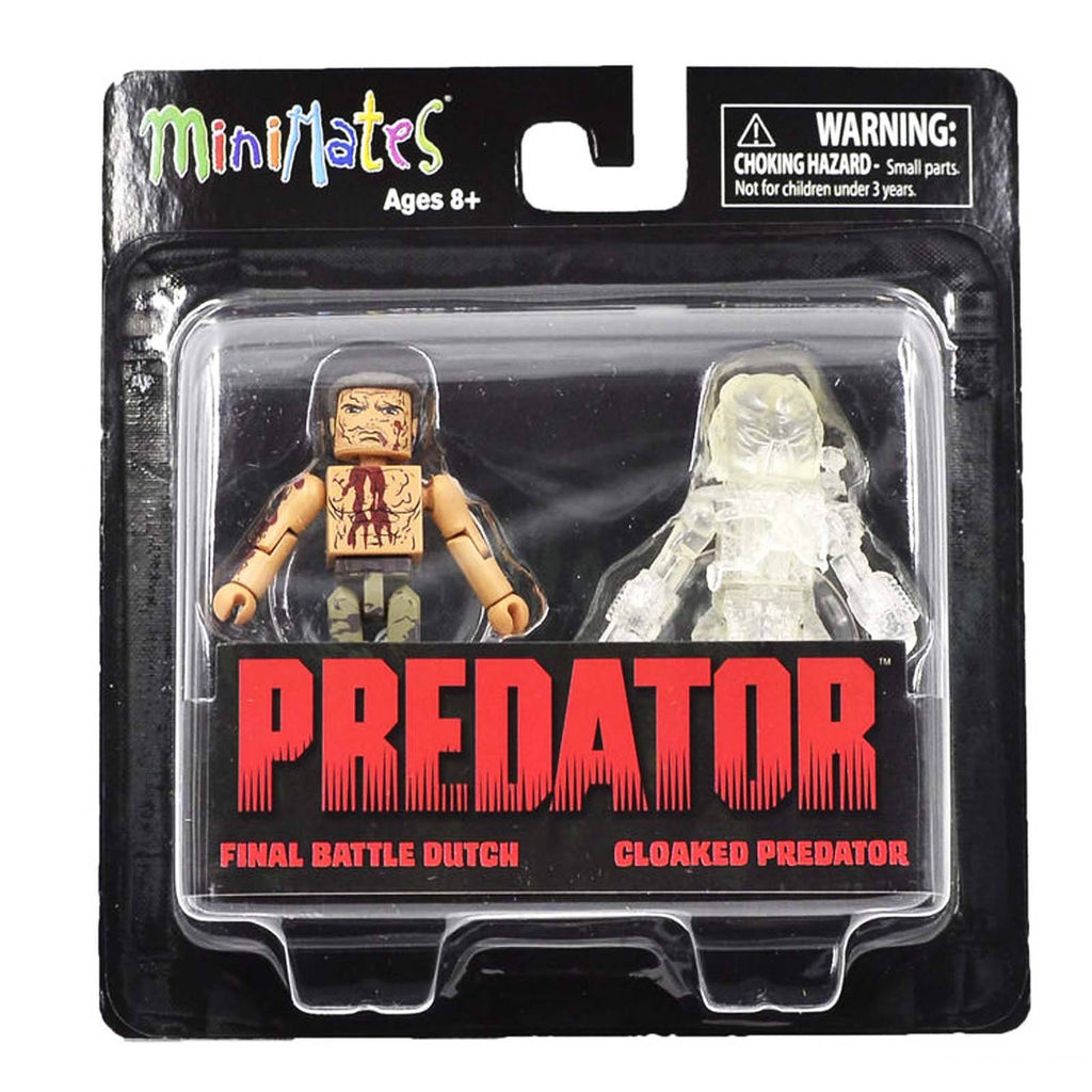 Minimates Predator Series 2 Final Battle Dutch Cloaked Predator Figure Set