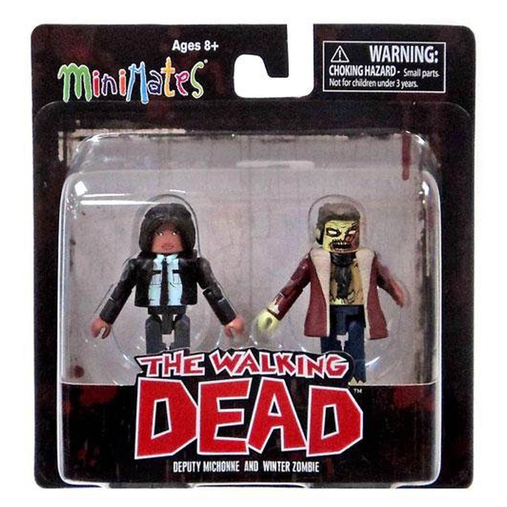 Minimates Walking Dead Series 6 Deputy Michonne Winter Zombie Figure Set