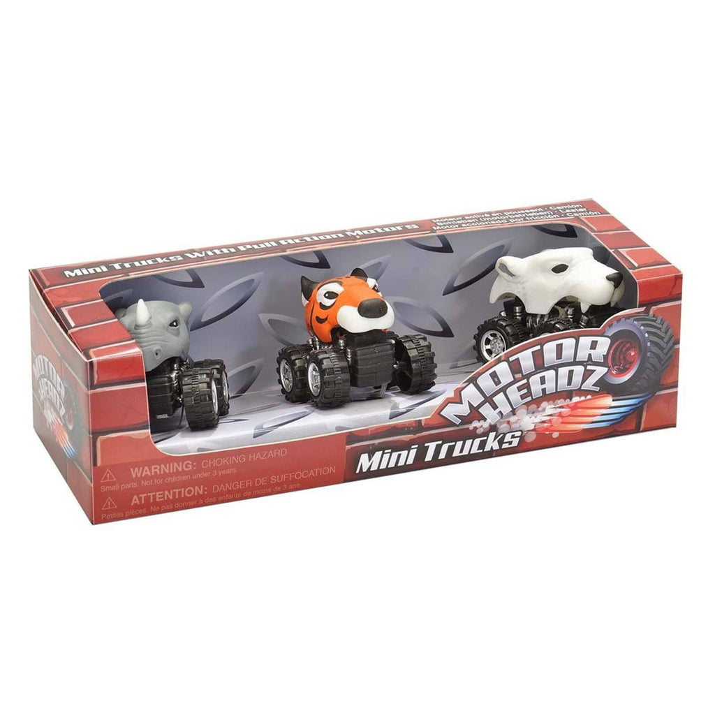 Action Figures - Motor Headz Zoo 3 Mini Trucks Set
