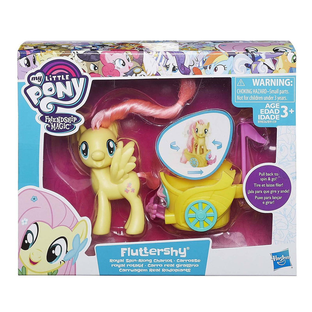 Action Figures - My Little Pony Friendship Magic Fluttershy Royal Spin-Along Chariot Set