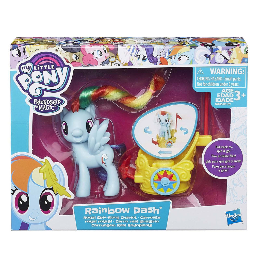 My Little Pony Friendship Magic Rainbow Dash Royal Spin-Along Chariot Set