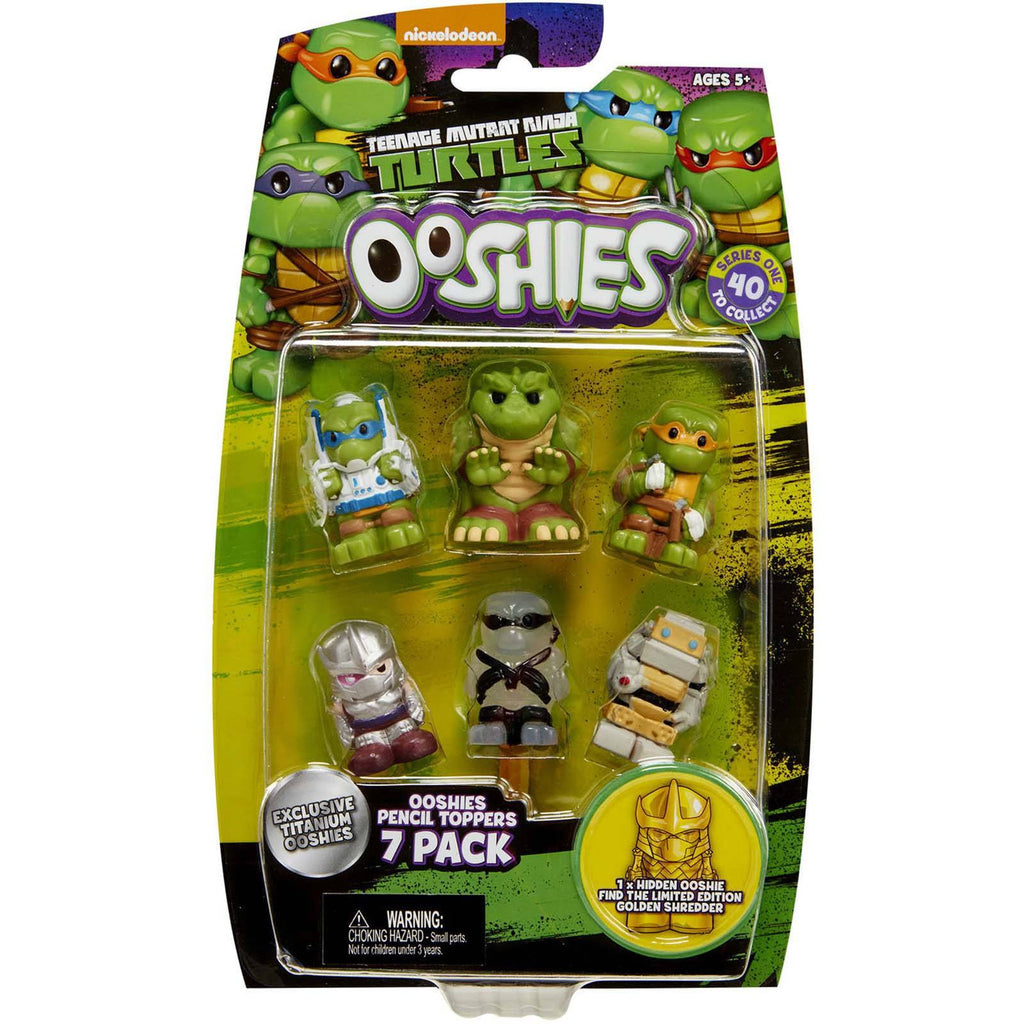 Ooshies Teenage Mutant Ninja Turtles Series 1 Set 1 7 Figure Set