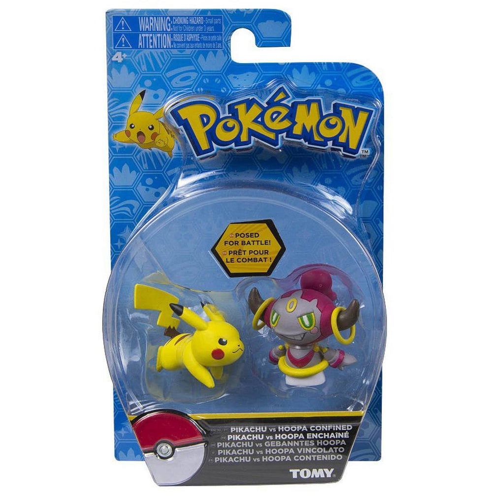 Pokemon Pikachu Vs Hoopa Confined Posed For Battle Mini Figures