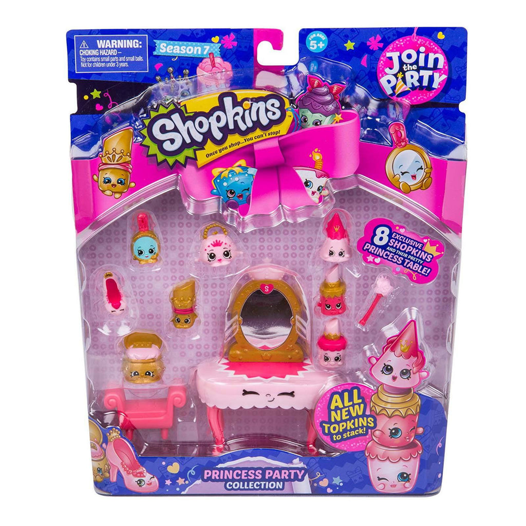 Shopkins Season 7 Join The Party Princess Party Figure Collection