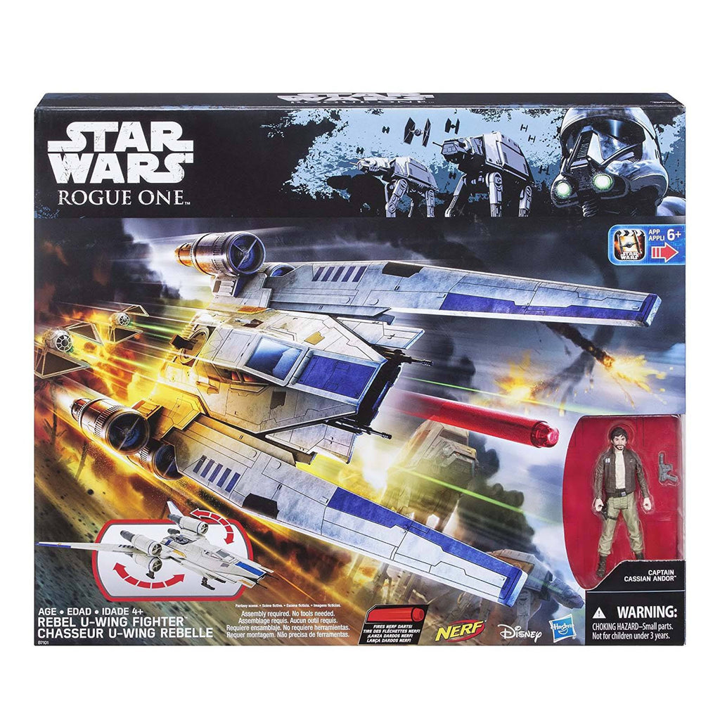 Star Wars Nerf Rogue One Rebel U-Wing Fighter Ship