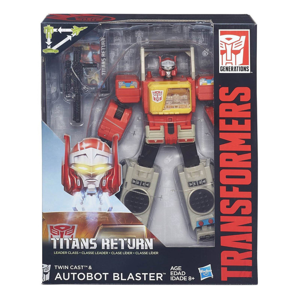 Transformers Generations Leader Autobot Blaster And Twin Cast Action Figure