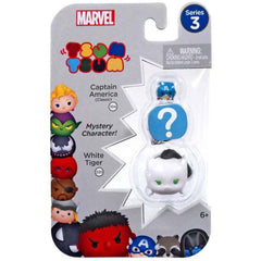 Action Figures - Tsum Tsum Marvel Series 3 Captain Mystery White Tiger 3 Figure Set