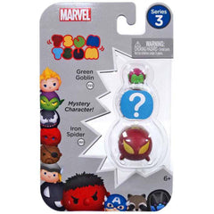Action Figures - Tsum Tsum Marvel Series 3 Green Goblin Mystery Iron Spider 3 Figure Set