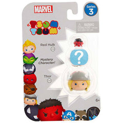 Action Figures - Tsum Tsum Marvel Series 3 Red Hulk Mystery Thor 3 Figure Set