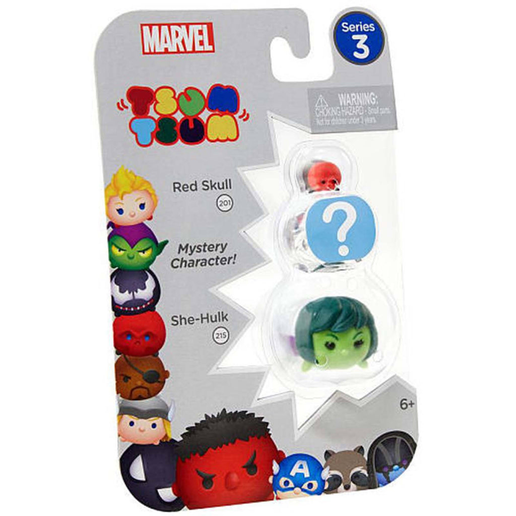 Tsum Tsum Marvel Series 3 Red Skull Mystery She-Hulk 3 Figure Set
