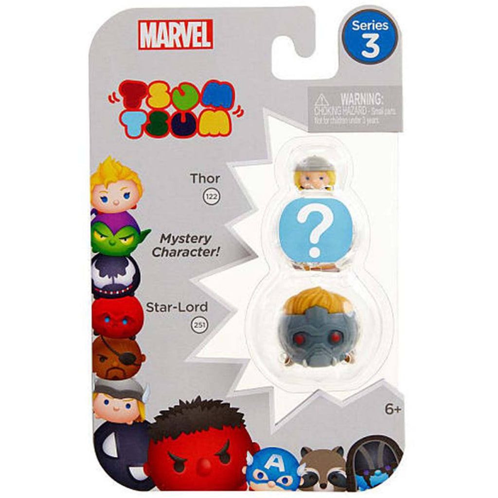 Tsum Tsum Marvel Series 3 Thor Mystery Star-Lord 3 Figure Set