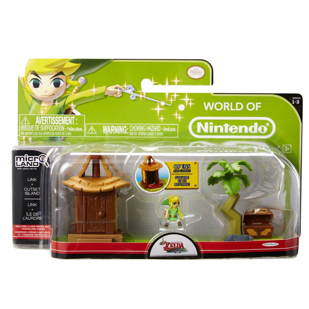 World of Nintendo Micro Land Zelda Link With Outset Island Set - Radar Toys