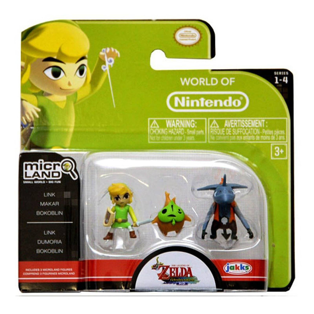 World of Nintendo Zelda Micro Land Link Dumoria Bokoblin 3 Pack Figures - Radar Toys