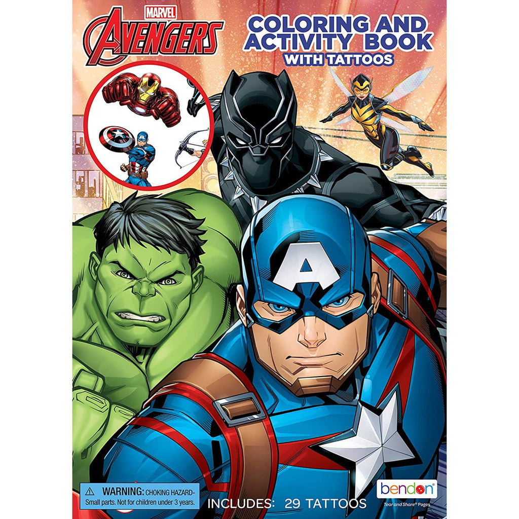 Bendon Marvel Avengers Coloring Activity Book With Tattoos