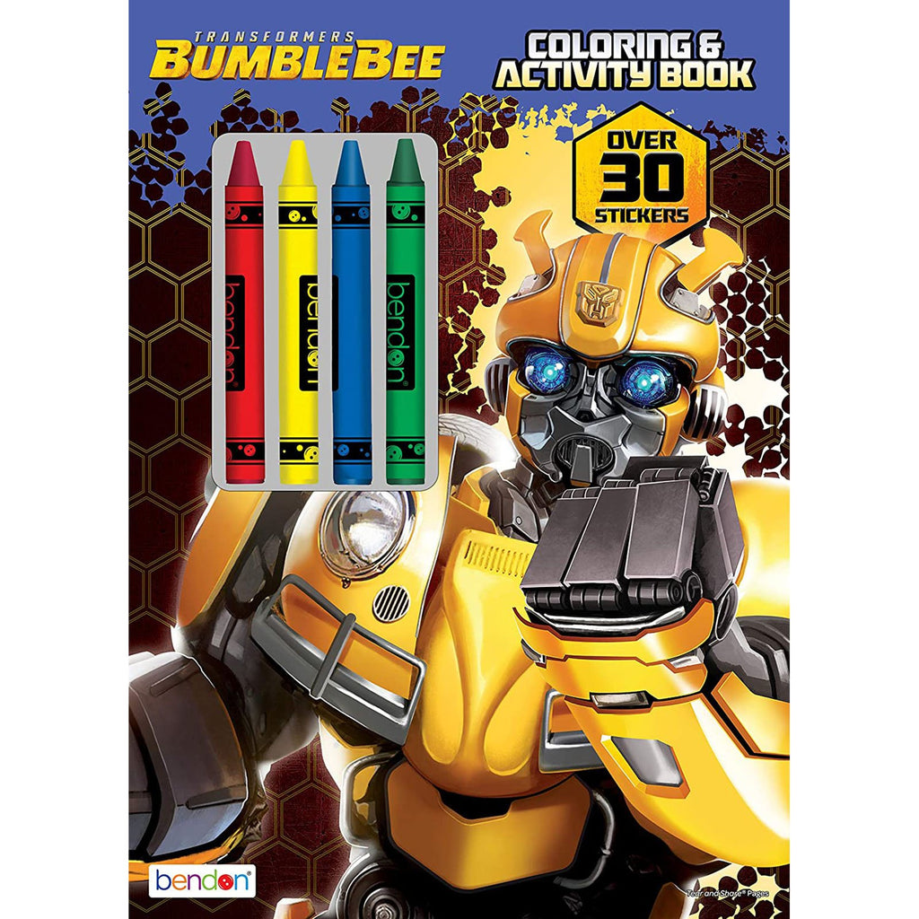 Bendon Transformers Bumblebee Coloring And Activity Book