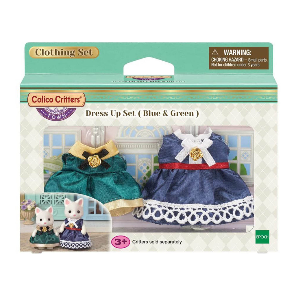 Animal Figure - Calico Critters Town Dress Up Blue Green Set CC3031