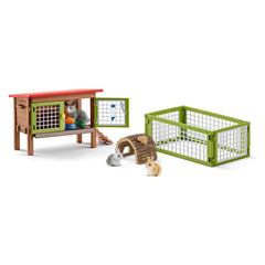 Animal Figures - Schleich Farm World Rabbit Hutch Animal Figure Set
