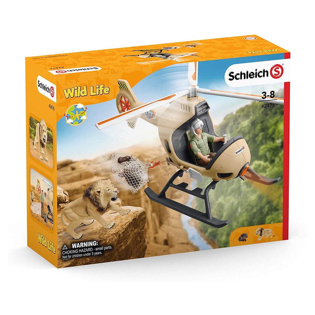 Animal Figures - Schleich Wild Life Animal Rescue Helicopter Set