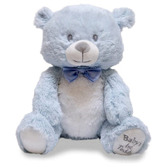 Animal Plush Toys - Cuddle Barn Babies First Teddy Bear Lullaby Blue 10 Inch Musical Plush Figure