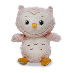 Animal Plush Toys - Cuddle Barn Twinkles Blush Owl 9 Inch Musical Plush Figure