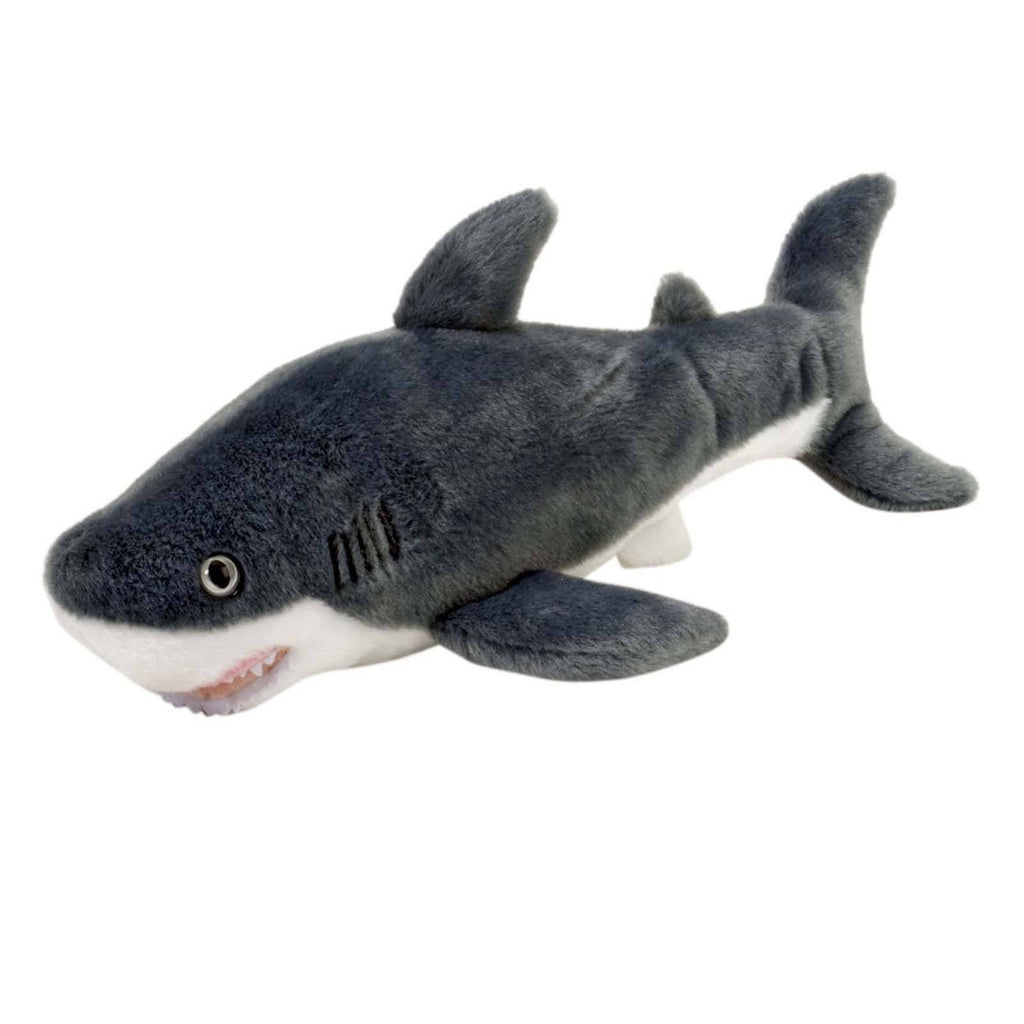 Animal Plush Toys - Cuddlekins Mini Great White Shark 10 Inch Animal Plush Figure