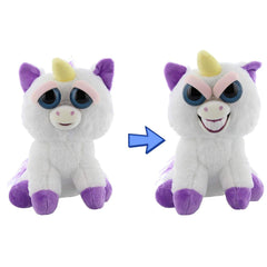 Animal Plush Toys - Feisty Pets Glenda Glitterpoop Unicorn Evil Grin Plush Figure