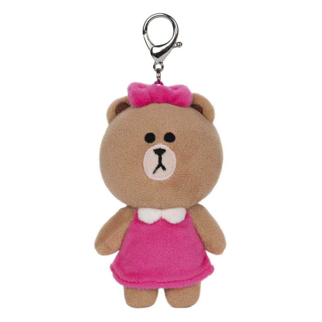 Gund Line Friends Choco Bear 5 Inch Plush Backpack Clip