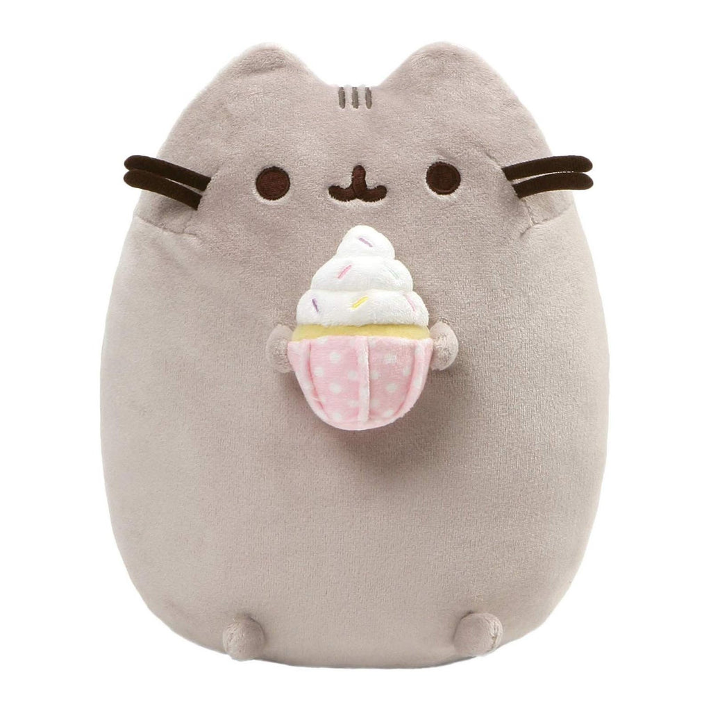 Animal Plush Toys - Gund Pusheen Snackables Sprinkled Cupcake 9.5 Inch Plush Figure