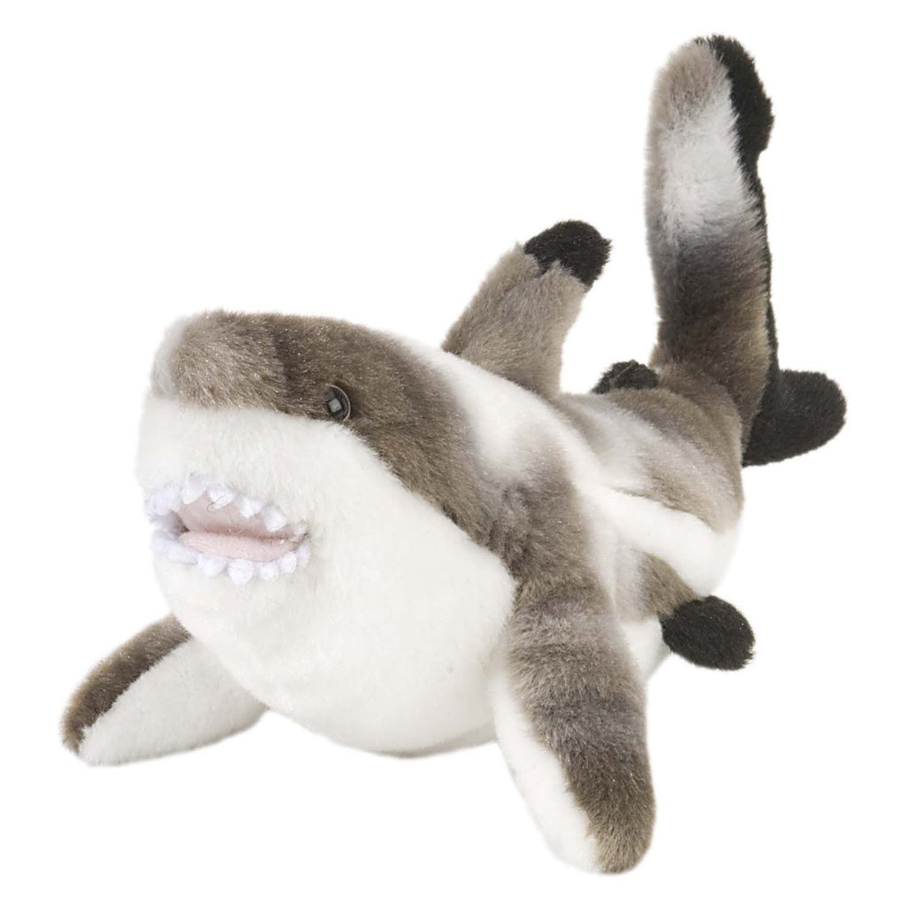 Animal Plush Toys - Wild Republic Cuddlekin Mini Shark Black Tipped 9 Inch Animal Plush