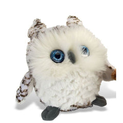 Animal Plush Toys - Wild Republic Fuzzballs Snowy Owl 6 Inch Animal Plush