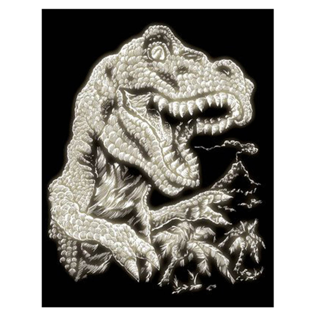 Art Kit - Royal Brush Glow In The Dark Tyrannosaurus Rex Engraving Art