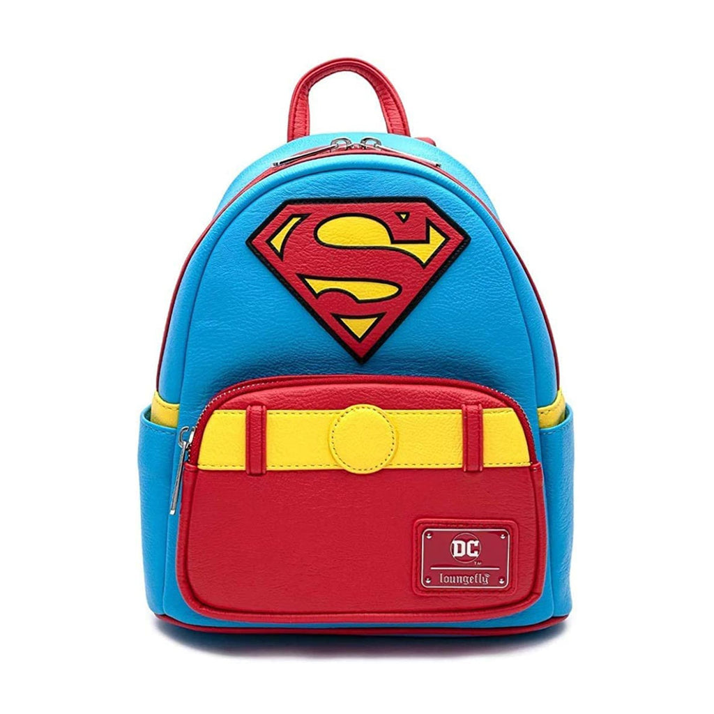 Loungefly DC Comics Superman Cosplay Vintage Style Mini Backpack