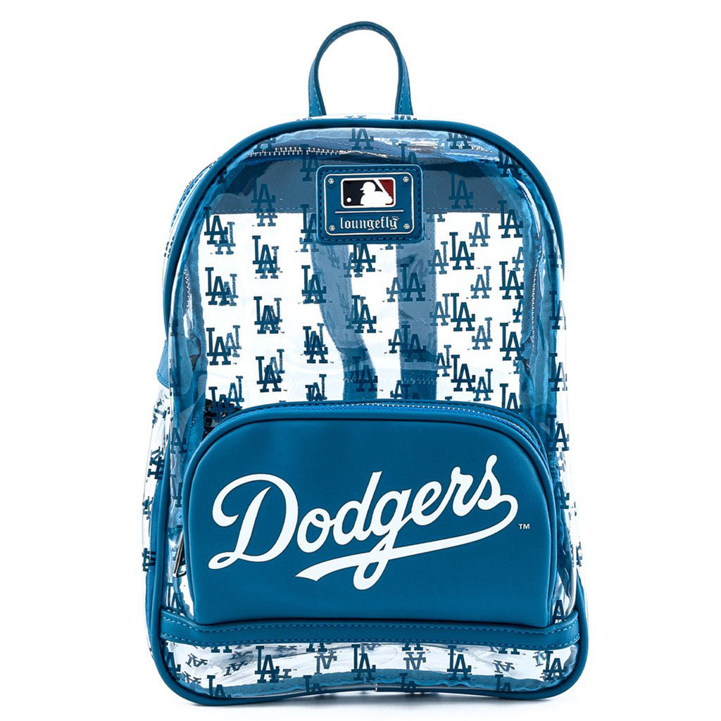 Loungefly MLB Dodgers Clear All Over Print Mini Backpack