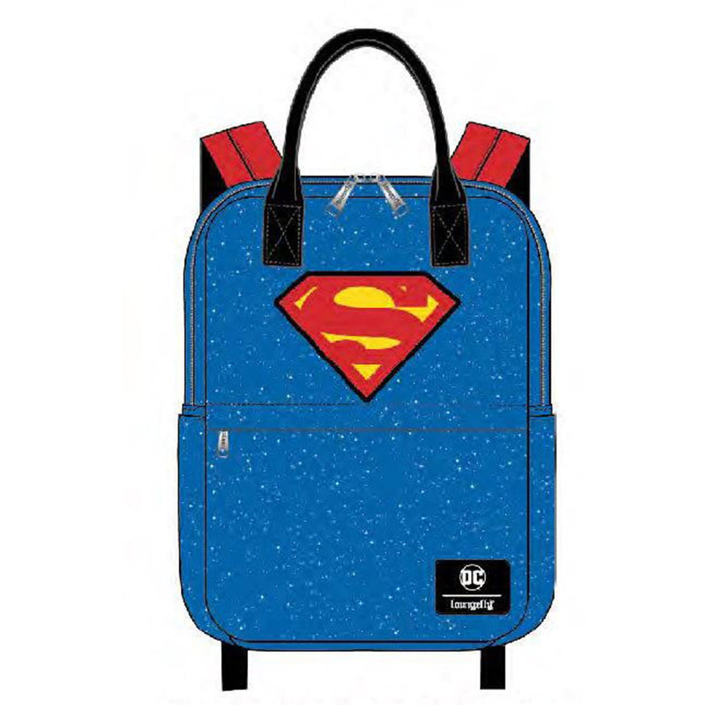 Loungefly DC Comics Superman Shield And Stars Nylon Backpack