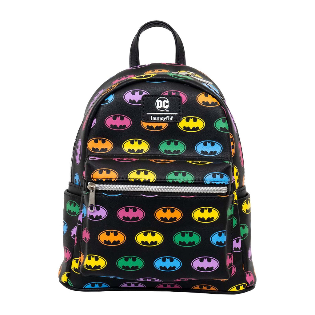 Backpacks - Loungefly DC EE Exclusive Batman Rainbow Logo Mini Backpack