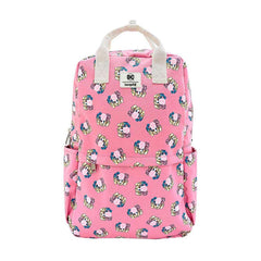 Backpacks - Loungefly DC Harley Quinn Bubble Gum All Over Print Nylon Square Backpack
